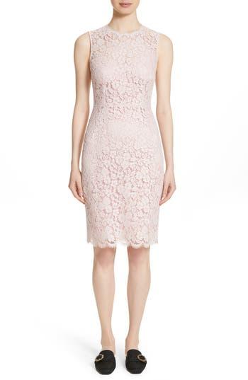 Dolce & gabbana Lace Sheath Dress, 8 IT - Pink