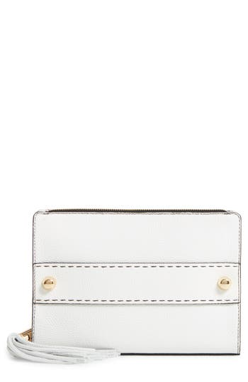 Milly Astor Leather Clutch - White