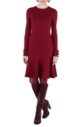 Akris Punto Knit Stretch Wool Dress