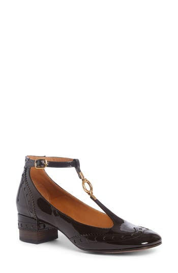 Chloe Perry Wingtip T-Strap Pump