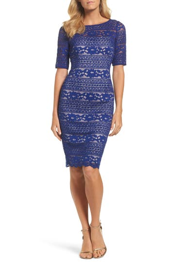 Adrianna Papell Corded Lace Dress
