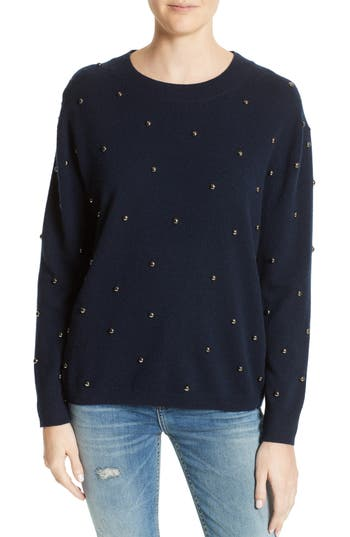 The Kooples Embellished Wool & Cashmere Sweater, Blue
