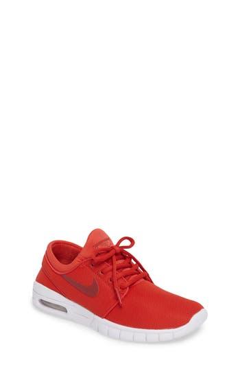 Kid's Nike Stefan Janoski Max Sb Skate Sneaker, Size 5.5 M - Red