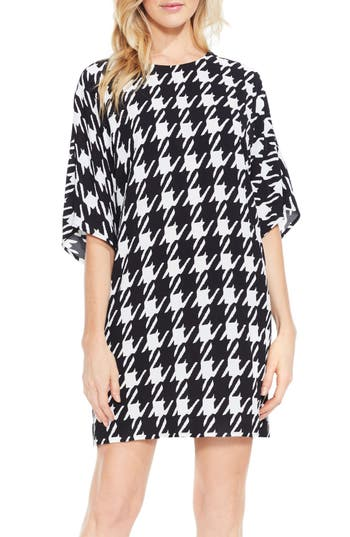 Vince Camuto Houndstooth Dress, White