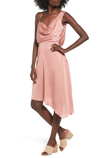 Keepsake The Label Sidelines Chiffon Midi Dress, Pink