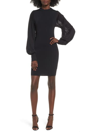Keepsake The Label Know Me Better Long Sleeve Body-Con Dress, Black