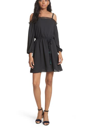 Rebecca Minkoff Paradise Off The Shoulder Dress, Black