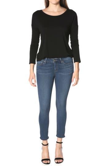Paige Transcend - Verdugo Cropped Skinny Jeans, Blue