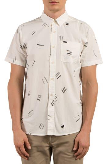 Volcom Micro Warp Print Shirt, White