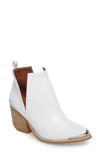 Jeffrey Campbell Cromwel Cutout Western Boot- White