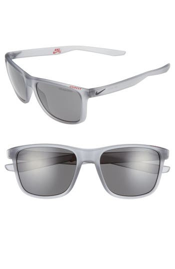 Nike Unrest 57Mm Sunglasses - Matte Wolf Grey/ Deep Pewter