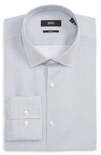 Men's Boss Slim Fit Dot Dress Shirt