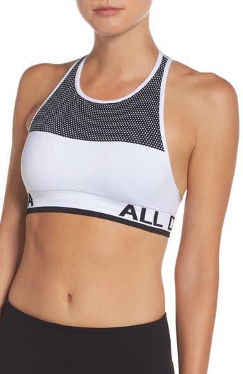 Alala Ace Seamless Sports Bra, White
