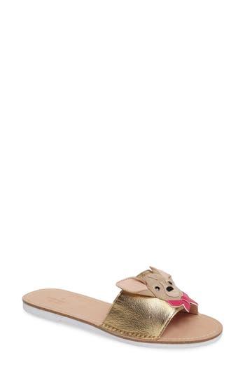 Kate Spade New York Isadore Chihuahua Slide Sandal, Metallic