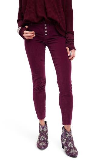 Free People Reagan Crop Skinny Jeans, Purple