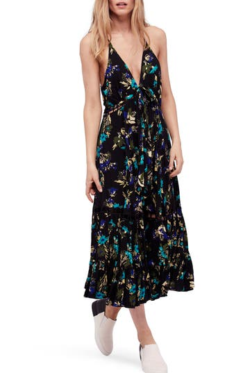 Free People Pages Of Gold Maxi Dress, Black