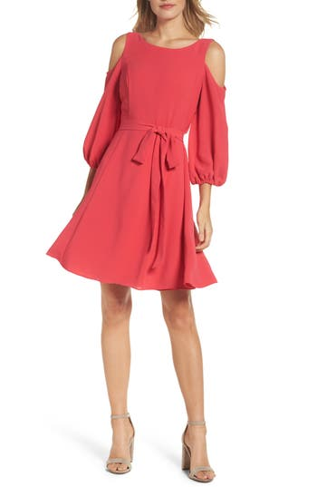 Adrianna Papell Cold Shoulder Dress, Pink
