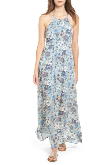 Women's Moon River Floral Print Maxi Dress