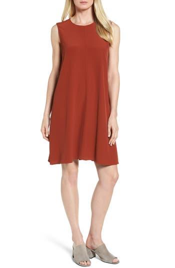 Eileen Fisher Tencel Blend A-Line Shift Dress, Red