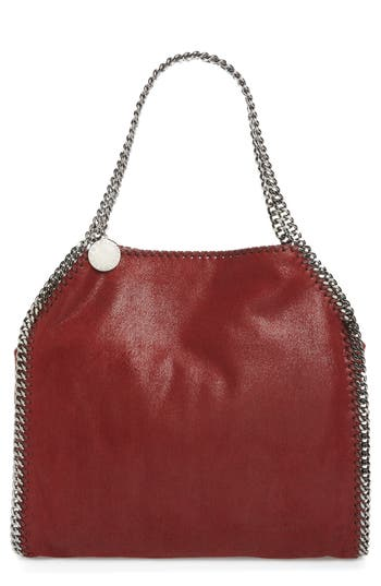 Stella Mccartney 'Small Falabella - Shaggy Deer' Faux Leather Tote - Red