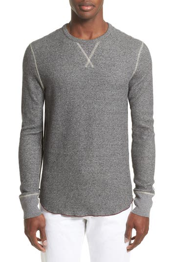 Todd Snyder + Champion Long Sleeve Thermal Sweater, Grey