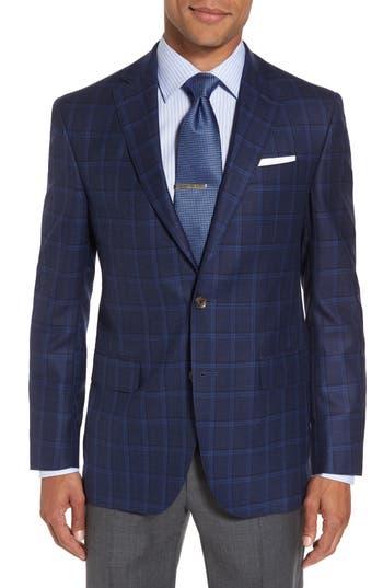 Big & Tall David Donahue Conner Classic Fit Sport Coat, 0 L - Blue