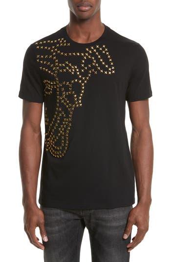 Versace Collection X-Stud Medusa T-Shirt, Black