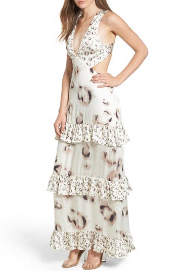 Afrm Lanna Tiered Maxi Dress, White