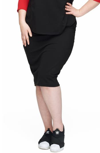 Plus Size Universal Standard Danube Jersey Skirt, Black
