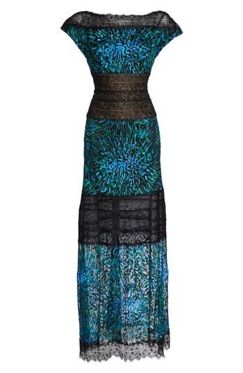 Tadashi Shoji Lorraine Lace Gown, Blue