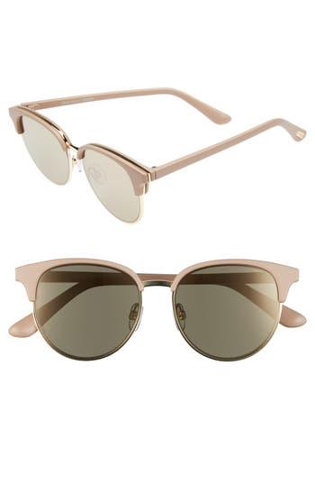 Le Specs Deja Vu 51Mm Round Sunglasses - Matte Shell