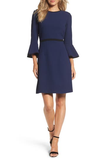 Eliza J Fit & Flare Dress, Blue