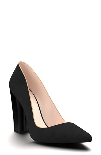 Shoes Of Prey Pointy Toe Pump, Black