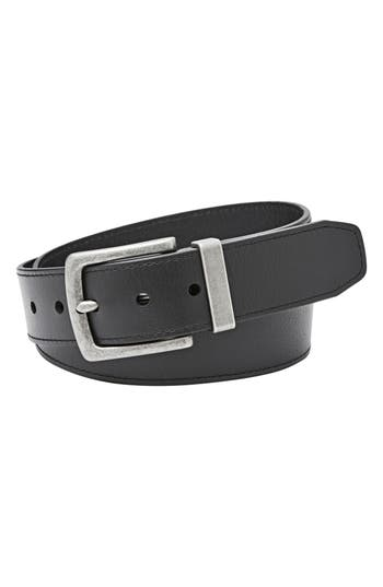 Fossil Mace Leather Belt, Black