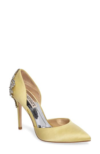 Badgley Mischka Karma Embellished Pump, Yellow