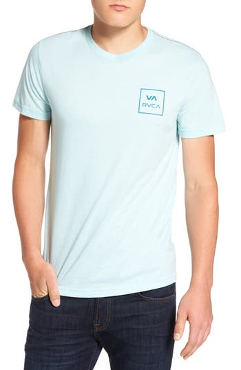 Rvca Grid All The Way Graphic T-Shirt, Blue