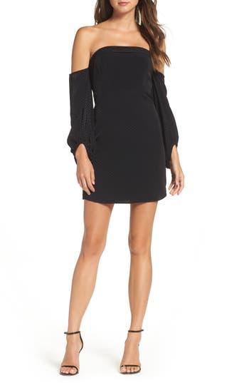 Bardot Skyline Off The Shoulder Sheath Dress, Black