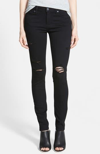 Paige Transcend - Verdugo Ultra Skinny Jeans, Black