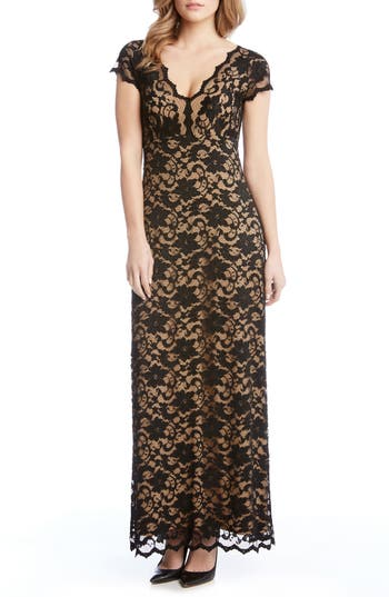 Karen Kane Juliet Lace Maxi Dress, Black