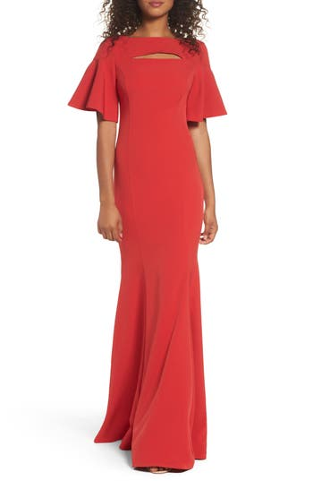 Jay By Jay Godfrey Pema Mermaid Gown, Red