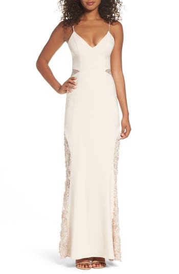 Maria Bianca Nero Shannon Lace Inset Gown, Pink