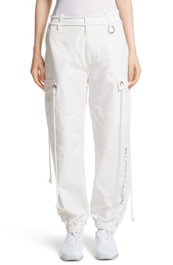Hyein Seo Light In The Dark Cargo Pants, White