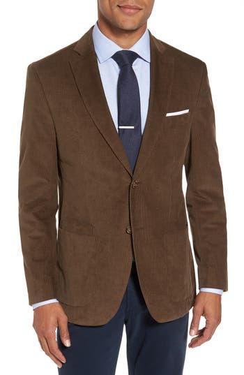 Jkt New York Trim Fit Stretch Cotton Corduroy Sport Coat Brown