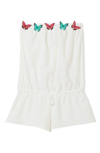 Girls Stella Cove Butterfly Strapless CoverUp Romper