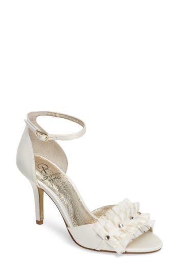 Women's Adrianna Papell Alcott Chiffon Ruffle Sandal, Size 5.5 M - White