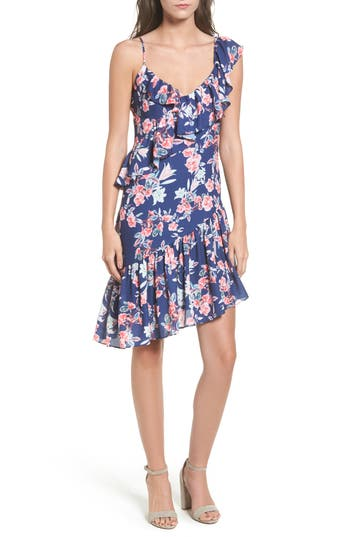 Women's Devlin Makenna Assymetrical Dress, Size Large - Blue