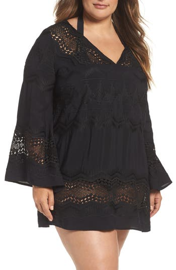 Plus Size La Blanca Cover-Up Tunic, Black