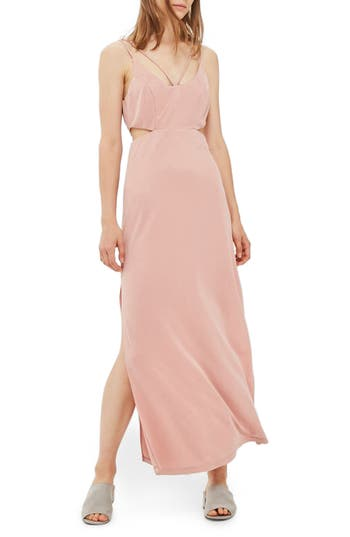 Topshop Cutout Slipdress, US (fits like 6-8) - Pink