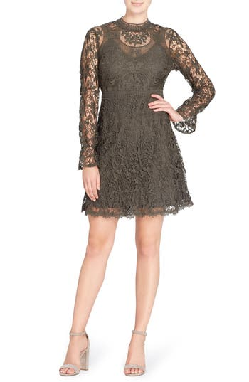 Catherine Catherine Malandrino Miia Lace Fit & Flare Dress, Green