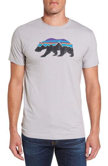 Patagonia Fitzroy Bear Graphic T-Shirt, Grey